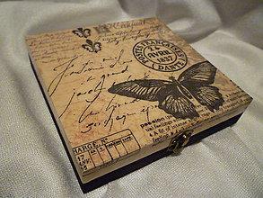 Krabičky - *krabička s motýľom* - 5919026_