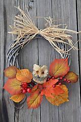 - Jesenný venček so sovou - 5924186_