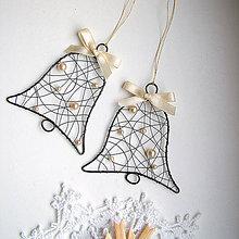 Dekorácie - zvonček s perličkami - 5924143_