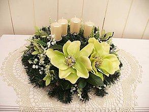 Dekorácie - Adventný veniec na stôl - 5923806_