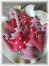 Dekorácie - Vianočné ozdoby-červená klasika - 5923708_
