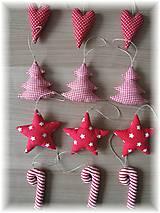 Dekorácie - Vianočné ozdoby-červená klasika - 5923709_