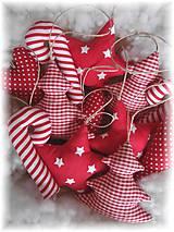 Dekorácie - Vianočné ozdoby-červená klasika - 5923792_