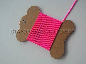 Galantéria - Shamballa šnúrka nylonová 1,5 mm - neonovo ružová - 5923987_