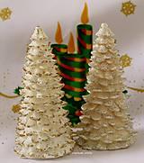 Svietidlá a sviečky - ZLATO STRIEBORNÉ VIANOCE , led sviečka - 5924070_