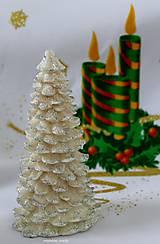 Svietidlá a sviečky - STRIEBORNÉ  VIANOCE, led sviečka - 5924112_