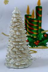 Svietidlá a sviečky - STRIEBORNÉ  VIANOCE, led sviečka - 5924113_