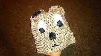 Detské čiapky - detská čiapka-macko - 5926192_