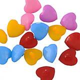 Plastové gombíčky srdiečka (balíček 10ks)