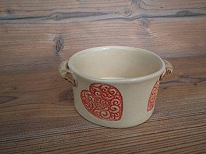 Nádoby - Miska polievková Srdiečko ornament 0,5 L - 5930081_
