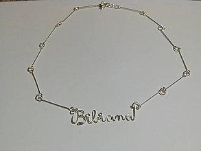 Náhrdelníky - Náhrdelník s menom Bibiana - 5929871_