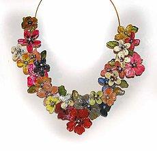 Náhrdelníky - XXXXL flowers náhrdelník - 5929938_