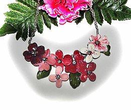 Náhrdelníky - rose flovers 19- kvetinový náhrdelník - 5930053_