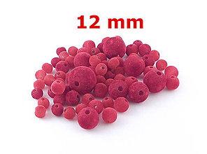 Korálky - Zamatky - Červené /12mm - 5929546_