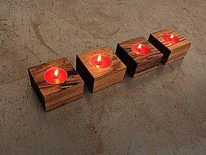 Svietidlá a sviečky - Drevený svietnik. Advent - 5930439_