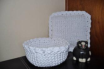 Košíky - Biely košík - 5926571_