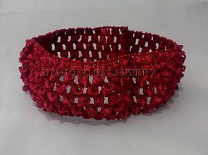 Ozdoby do vlasov - Elastická pletená čelenka 40 mm - tmavo červená - 5929810_