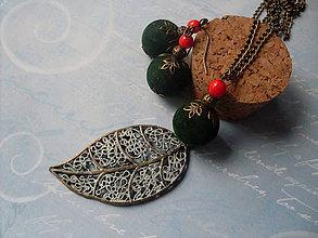 Sady šperkov - Zelené bobuľky - 5928590_