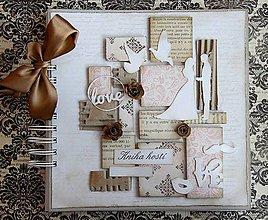 Papiernictvo - Kniha hostí vintage - 5928142_