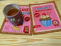 Úžitkový textil - Podložky pod šálku/pohár - Cupcake in pink - 5928737_