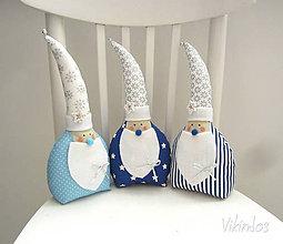 Dekorácie - Vianočný Miki Mikuláš...modrý - 5927526_
