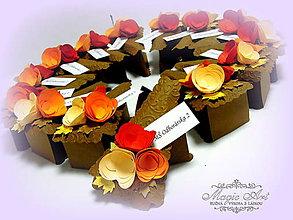 Darčeky pre svadobčanov - Autumn cake - 5930622_