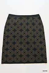 Sukne - BIRDINA - pletená sukně nad kolena - rovná - 5926983_