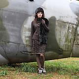 Sukne - BIRDINA - pletená sukně nad kolena - rovná - 5926991_