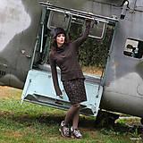Sukne - BIRDINA - pletená sukně nad kolena - rovná - 5927005_
