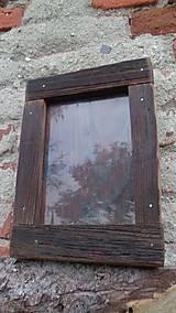 Rámiky - Starodrevný rámik so sklom - 5929198_