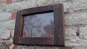 Rámiky - Starodrevný rámik so sklom - 5929204_