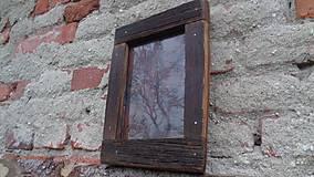 Rámiky - Starodrevný rámik so sklom - 5929206_