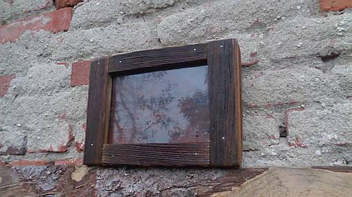Starodrevný rámik so sklom