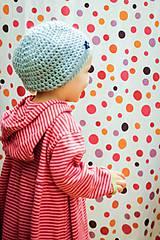 Detské čiapky - ...keď prší bublifuk... - 5931414_