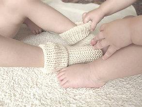 Topánočky - Pletené ponožky - NATURAL - 5934326_