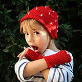 Detský bodkovaný set ... čiapka / rukavičky