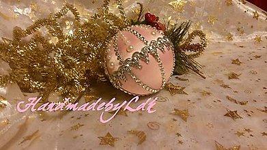 Dekorácie - Jemne ružova gula - 5933179_