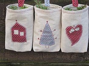Dekorácie - Vrecká na mikulášske a vianočné darčeky - 5932599_