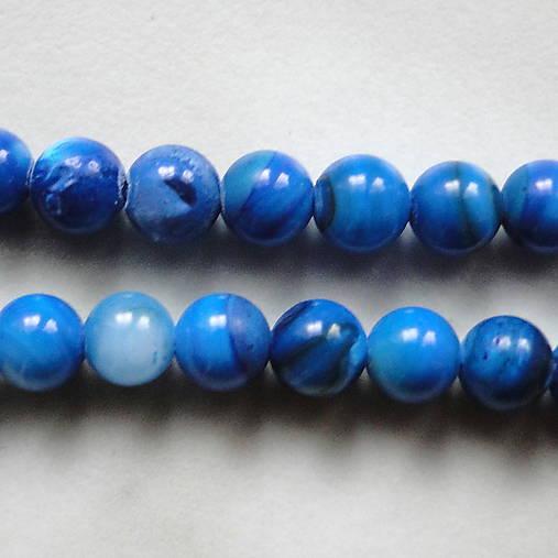 Perleť 5mm-modrá-1ks