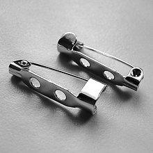 Komponenty - Brošňový mostík (20mm-platina-1ks) - 5935127_
