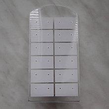 Pomôcky/Nástroje - Stojanček na náušnice-1ks (13x7cm-biela) - 5935274_