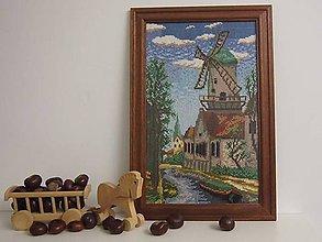 Dekorácie - Dedko obraz - veterný mlyn - 5934381_