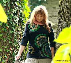 Tričká - Dámske tričko maľované BREČTANKA - 5931580_