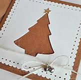 Papiernictvo - snehové perníčkové vianočné pozdravy - 5 ks - 5933469_