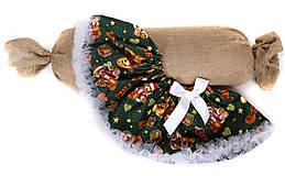 Detské oblečenie - vianočná suknička - 5930935_