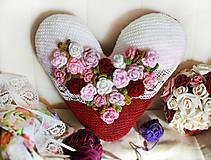 Úžitkový textil - Romantický vankúšik - 5935048_