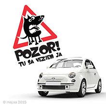 Pre zvieratká - nálepka - POZOR! - 5934285_