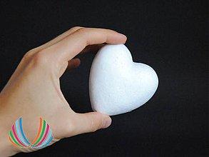 Polotovary - Polystyrénové srdce 8 cm, ihneď - 5933902_