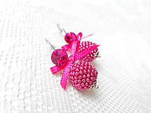 Náušnice - Wild raspberries (Rhodium earrings / Swarovski crystal) - 5938176_