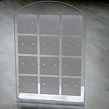 Pomôcky/Nástroje - Stojanček na náušnice-1ks (9x6,5cm-biela) - 5935282_